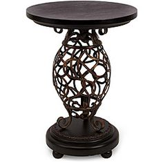 @Overstock - This end table comes in an Argento style perfect for any decor. Handmade of iron and wood with a scroll design on the base, this occasional table will provide a gorgeous decorative touch to any home.http://www.overstock.com/Home-Garden/Wooden-Argento-Scroll-Base-End-Table/5179078/product.html?CID=214117 $278.09