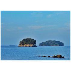 #島 #島影 #island #海 #水平線 #宮城 #南三陸町 by junsuzukii