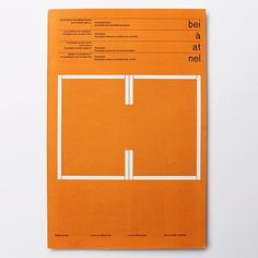 List of References folded brochure for Christian Holzäpfel designed by Karl Gerstner (GGK), 1961