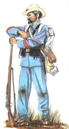This is the uniform of a corporal in Constitucion Infantry Regiment. This regiment fought at El Caney.