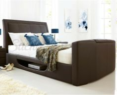 A warm 'welcome home'. Nothing entirely gives you the feeling of getting home more than handmade upholstered beds designed and stitched with you in mind. Look forward to comfortable, rewarding sleep in an upholstered bed as unique as you are. Tv Beds, Upholstered Beds, How To Make Bed, Bed Design, Bed Frame, House Ideas, Ivory, Warm, Luxury
