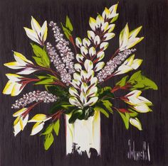 New Floral Oil Painting by JalinePol. Jaline will be in Chicago April 19 2013 for an exhibition of her new artwork. Call Atlas Galleries for more info & to RSVP 800-545-2929