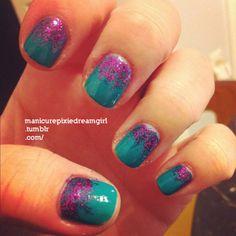 Get retro nails. With retro colours