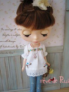 reve de Rui x Blythe -embroidered white top blouse door revedeRui op Etsy https://www.etsy.com/nl/listing/158493543/reve-de-rui-x-blythe-embroidered-white