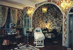 Το δωμάτιο του Toulouse-Lautrec στο Château du Bosc. Καρτ-ποστάλ Delcampe.