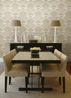 Ashbury Taupe Paisley Damask Wallpaper design by Brewster Home Fashions