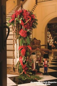 Christmas decor by Dorothy McDaniel's Flower Market as seen in Victoria Magazine