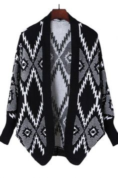 Monochrome Pattern wrap sweater... wannnnt
