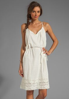 Velvet Jo Sheer Dobby Lace Dress in Ivory - Lyst
