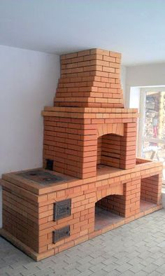oven Brick Bbq, Pizza Oven Outdoor, Brickwork, Fireplace Design, Bbq Grill, Outdoor Projects, Outdoor Living, Backyard, Outdoor Fireplaces