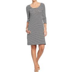 Old Navy Womens 3/4 Sleeve Jersey Dresses ($15) ❤ liked on Polyvore-I brought this dress.