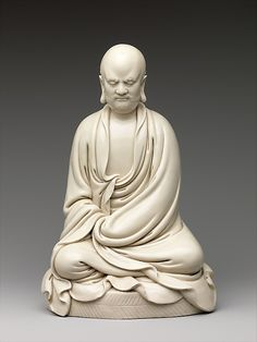 Chan Patriarch Bodhidharma Period: Ming dynasty (1368–1644) 17th century China. Porcelain with ivory glaze (Fujian Province; Dehua ware) Metropolitan Museum of Art, NYC