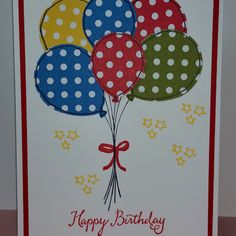Balloon Celebration and Balloon Bouquet Punch - Spring/Summer 2016 Stampin' Up!