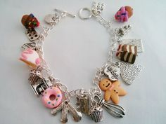 Special Gifts Online features handcrafted jewellery that is beautiful, unique and lots of fun. We hand make each bracelet to a one of a kind design, so each piece is absolutely unique.This is our Baking charm bracelet with baking themed charms. £19.99 buy it @ http://www.specialgiftsonline.co.uk/products/baking-charm-bracelet