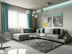 Turquoise Dining Room Ideas, Turquoise Room, Turquoise Living Room Accessories, Using Turquoise i. Living Room Decor Cozy, Living Room Grey, Living Room Interior, Home Living Room, Apartment Living, Rustic Apartment, Apartment Design, Curtain Ideas For Living Room, Living Area