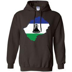 Lesotho flag-01 G185 Gildan Pullover Hoodie 8 oz.