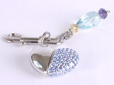 Mango Frooty Designed Bling Silver Heart USB Flash by MadamCharli, $35.00
