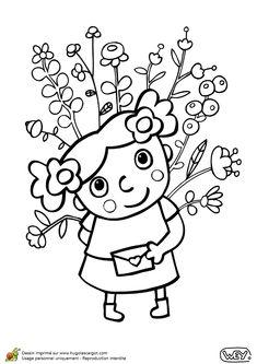 dessin a colorier de deux petits oiseaux tenant chacun With affiche chambre bébé avec livre un bouquet de fleurs