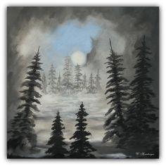 Acryl/Leinwand 50 cm x 50 cm x 1,5 cm Preis auf Anfrage  Wald