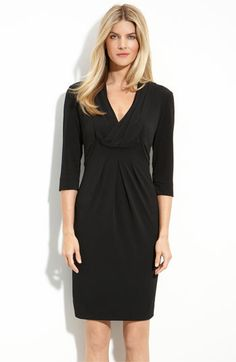 Donna Ricco Drape V-Neck Jersey Dress (Regular & Petite) available at #Nordstrom