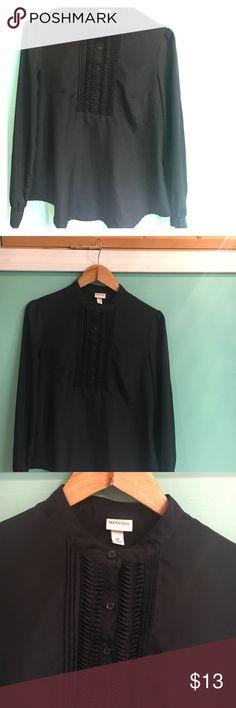 Merona black button down top Gently worn- black button down top. Merona Tops Blouses