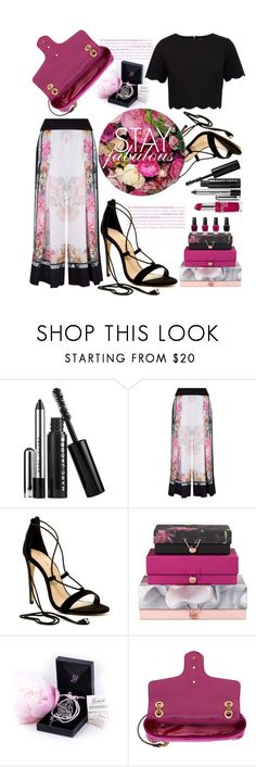 """""""Untitled #64"""" by shewalksinsilence ❤ liked on Polyvore featuring Marc Jacobs, Clinique, Ted Baker, Chinese Laundry and Gucci"""