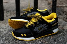 "Asics Gel Lyte III ""Race Day"" ::Black and Yellow x2::"