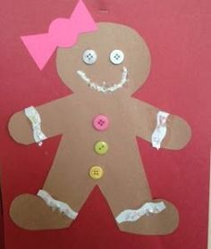 Gingerbread craft & Crafts For Preschoolers: Paper Plate Gingerbread Man | Time 4 The ...