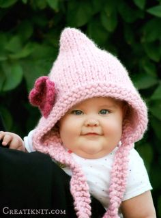 Knitting Pattern Baby Pixie Hat Baby Toddler Child by CreatiKnit Baby Hats  Knitting e29a2e1c228
