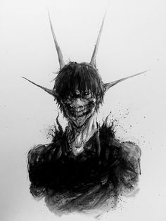 Hail to the king anime manga, manga boy, anime art, dark souls, Arte Horror, Horror Art, Dark Art Drawings, Image Manga, Estilo Anime, Creepy Art, Dark Anime, Kaneki, Dark Fantasy Art