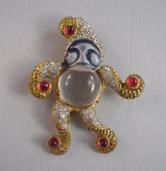 Fred Block - jelly belly snowman brooch 1945