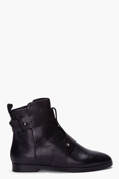 SEE BY CHLOE //  BLACK DOUBLE BUCKLE BOOTS