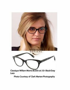 ea3a9a8150c Classique William Morris BI033 col. 03-Black Gray Lace Courtesy of Clark  Marten