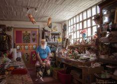 永久鏈接到Anado Mclauchlin在他的工作室在卡薩代拉斯拉納在La Cieneguita,墨西哥