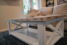 Custom Rustic Farmhouse Coffee Table by TheWoodMarket on Etsy