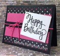 Stylized birthday, Stampin