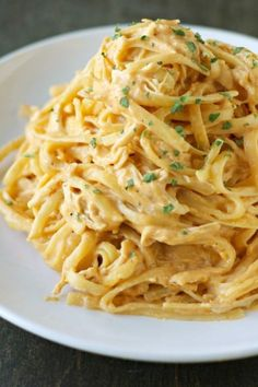 Pasta lovers, beware: One bite of this creamy, indulgent dish and you'll never make pasta the same way again.  Get the recipe at Crockpot Gourmet.