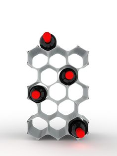 Winehive - 15 Bottle WineHive® Modular Wine Rack (Silver | VAULT