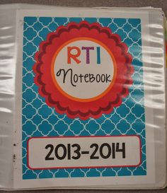 keeping an RtI notebook- ideas for record keeping, including an editable form