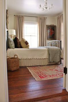 benjamin moore: walls are overcast, trim is white dove, &  ceiling is white dove in pearl finish