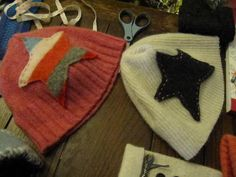 upcycled jammer star beenies =]