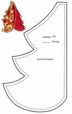 Resultado de imagen de cartamodello albero di natale in feltro