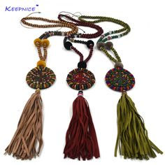 Find More Pendant Necklaces Information about New handmade leather tessal peace symbol pendents necklace boho Bohemia Seedbeads chain Ethnic long Necklaces  for women,High Quality long necklace,China necklaces for women Suppliers, Cheap pendent necklace from keepnice jewellery Store on Aliexpress.com