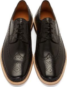 PS by Paul Smith Black Leather Kordan Brogues