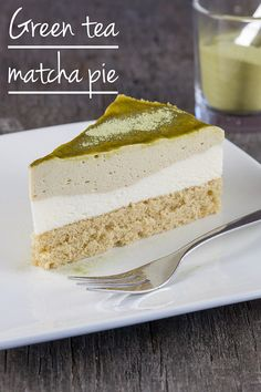 3 layers of fluffy goodness with this green tea matcha mousse pie. You can also serve the mousse without the other layers, surprise everyone!