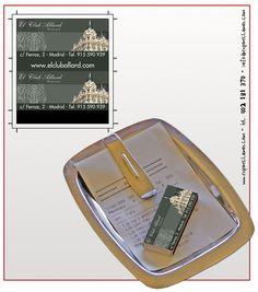 Diseño cajas de cerillas para El Club Allard en Madrid.
