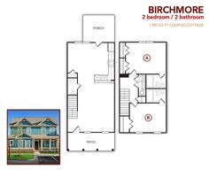 2 bedroom, 2 bath Birchmore