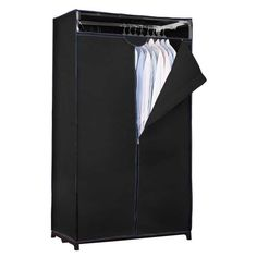 Create more closet space with the Simplify portable closet. Neatly store all your out of season clothes dust-free and organized. Zipper opening offers easy access while the breathable material allows Portable Clothes Rack, Portable Wardrobe, Portable Closet, Laundry Room Storage, Closet Storage, Closet Organization, Locker Storage, Closet Drawers, Garment Racks