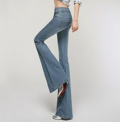 57.00$  Watch here - http://alivjj.worldwells.pw/go.php?t=32660746674 - Plus Size High Waist Jeans Skinny Pants Womens High Waisted Flare Jeans Long Trousers Push Up Jean Slim Femme 57.00$