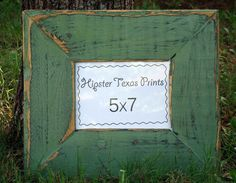 these rustic picture frames are cute... easily made